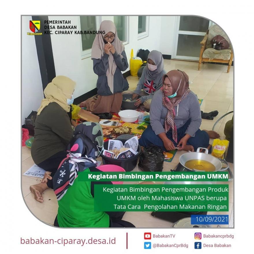 Kegiatan Bimbingan Pengembangan UMKM bersama Mahasiswi Universitas Pasundan