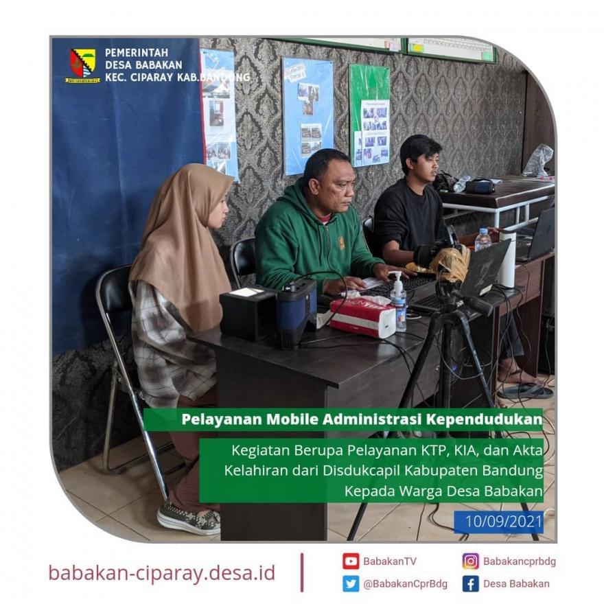 Kegiatan Pelayanan Mobile Administrasi Kependudukan dari DISDUKCAPIL Kabupaten Bandung